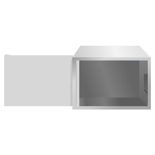 Стальной ящик (шкаф пенального типа) для сетевого оборудования ПК-3-1